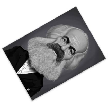 Karl Marx Celebrity Caricature Postcard