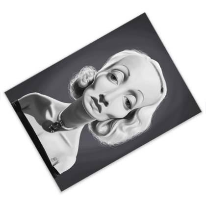 Marlene Dietrich Celebrity Caricature Postcard
