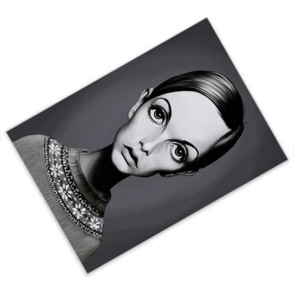 Twiggy Celebrity Caricature Postcard