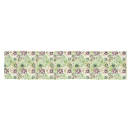 Scarf: Green and Pink Coneflowers