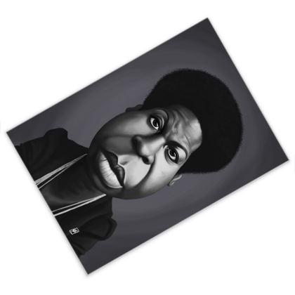 Nina Simone Celebrity Caricature Postcard
