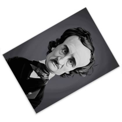 Edgar Allan poe Celebrity Caricature Postcard