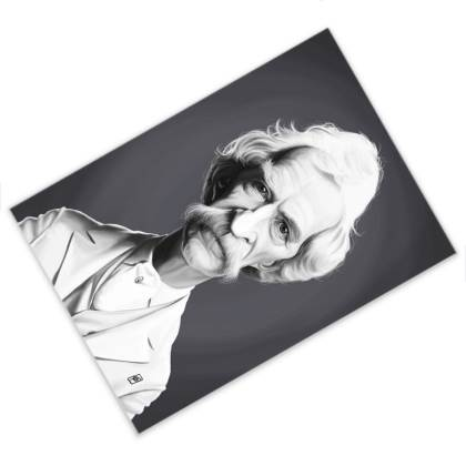 Mark Twain Celebrity Caricature Postcard