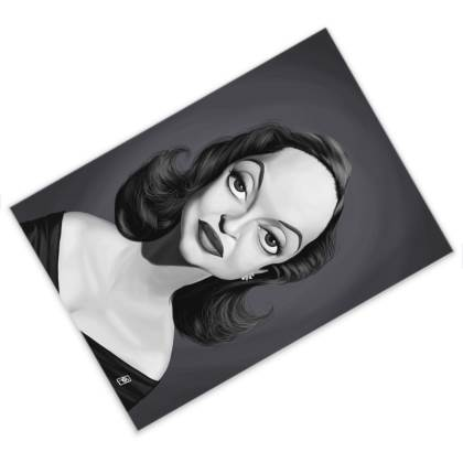 Bette Davis Celebrity Caricature Postcard