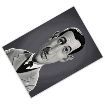 J.D.Salinger Celebrity Caricature Postcard