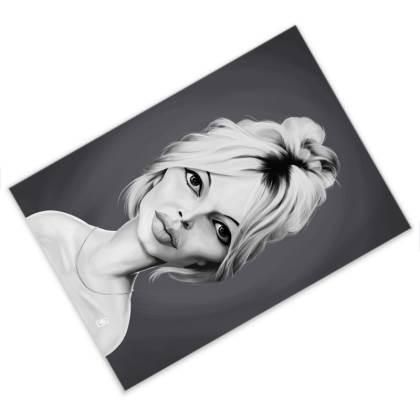 Brigitte Bardot Celebrity Caricature Postcard