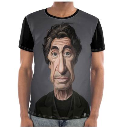 Al Pacino Celebrity Caricature Cut and Sew T Shirt
