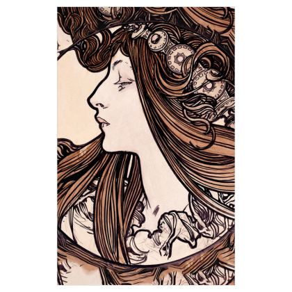 Curtains (116cmx182cm) - Alphonse Maria Mucha Stained Glass #8