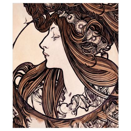 Voile Curtains (116cmx137cm) - Alphonse Maria Mucha Stained Glass #8