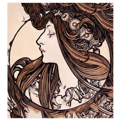 Voile Curtains (167cmx182cm) - Alphonse Maria Mucha Stained Glass #8