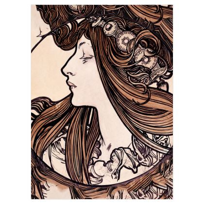Voile Curtains (167cmx229cm) - Alphonse Maria Mucha Stained Glass #8
