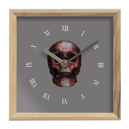 Mantle Clock - Cheerful Skull