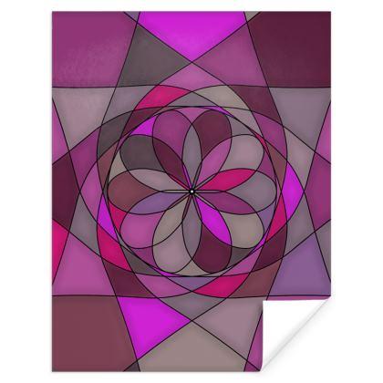 Gift Wrap - Pink spiral