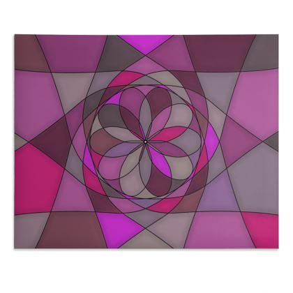 Desk Pad - Pink spiral