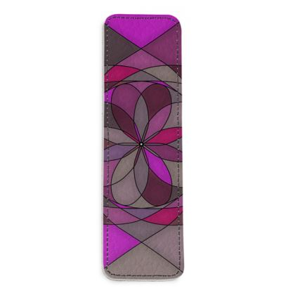Leather Bookmarks - Pink spiral