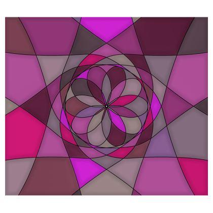 Mouse Mat - Pink spiral