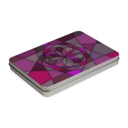 Pencil Case Box - Pink spiral
