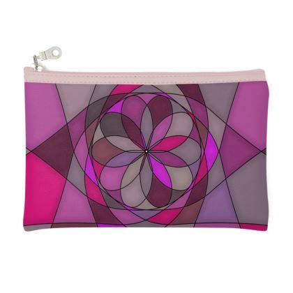 Pencil Case - Pink spiral