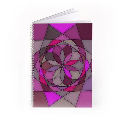 Spiral Note Books - Pink spiral