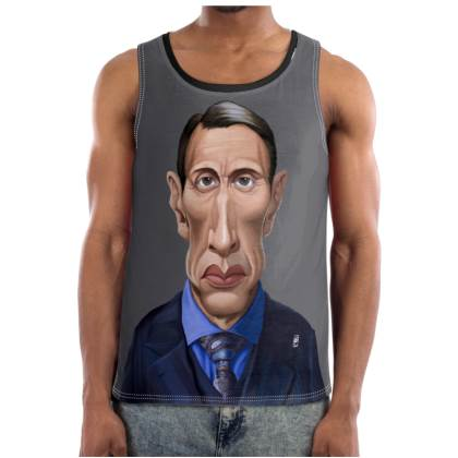 Mads Mikkelsen Celebrity Caricature Cut and Sew Vest