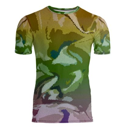 Slim Fit Mens T-Shirt - Honeycomb Marble Abstract 4