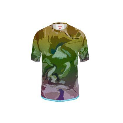 Mens T-Shirt - Honeycomb Marble Abstract 4