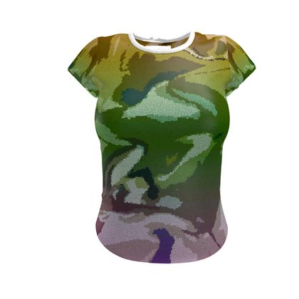 Ladies T Shirt - Honeycomb Marble Abstract 4