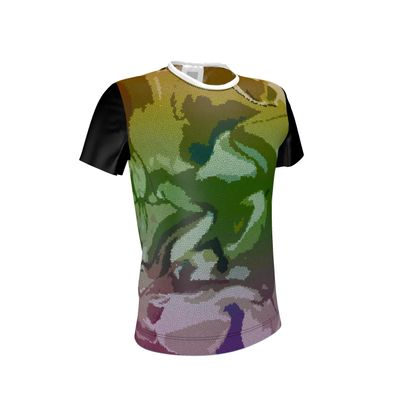T Shirt - Honeycomb Marble Abstract 4