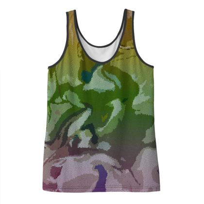 Ladies Vest Top - Honeycomb Marble Abstract 4