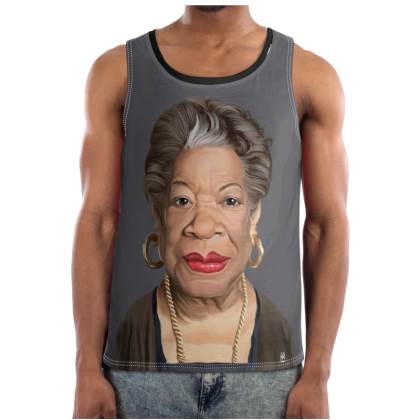 Maya Angelou Celebrity Caricature Cut and Sew Vest