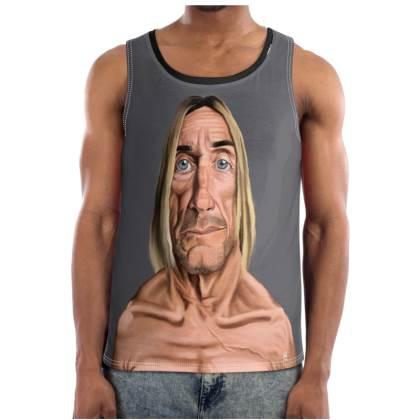 Iggy Pop Celebrity Caricature Cut and Sew Vest