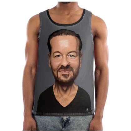 Ricky Gervais Celebrity Caricature Cut and Sew Vest