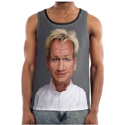 Gordon Ramsey Celebrity Caricature Cut and Sew Vest