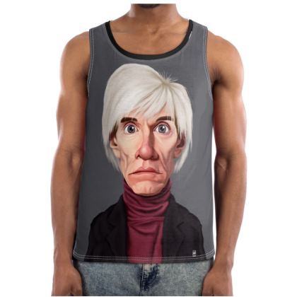 Andy Warhol Celebrity Caricature Cut and Sew Vest