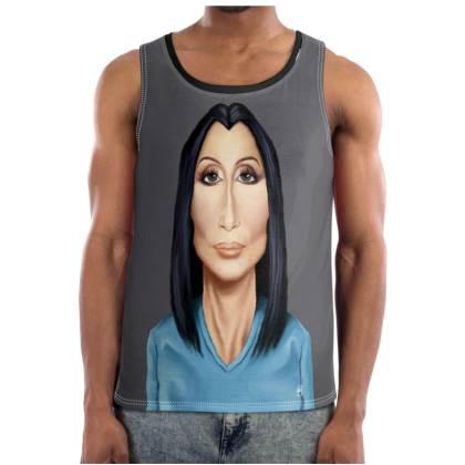 Cher Celebrity Caricature Cut and Sew Vest