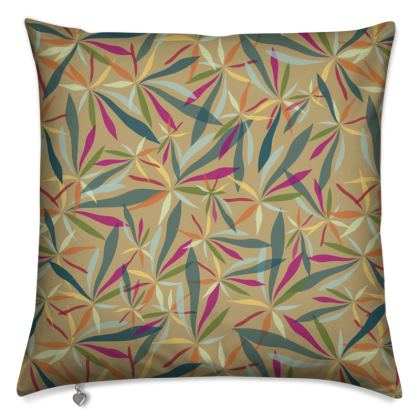 Cushion: Spiky Leaves on gold