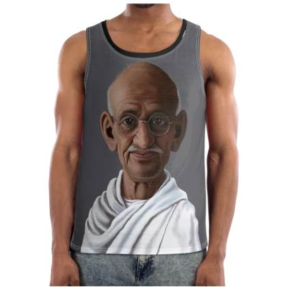 Mahatma Gandhi Celebrity Caricature Cut and Sew Vest