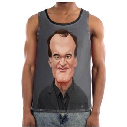 Quentin Tarantino Celebrity Caricature Cut and Sew Vest