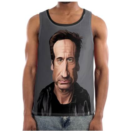 David Duchovny Celebrity Caricature Cut and Sew Vest