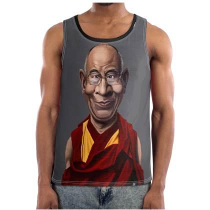 Dalai Lama Celebrity Caricature Cut and Sew Vest