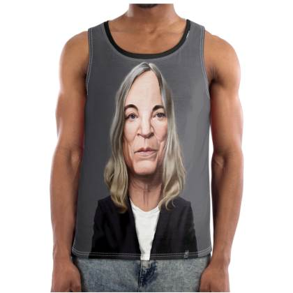 Patti Smith Celebrity Caricature Cut and Sew Vest