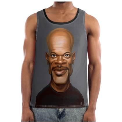 Samuel L Jackson Celebrity Caricature Cut and Sew Vest