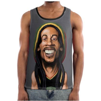 Bob Marley Celebrity Caricature Cut and Sew Vest