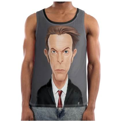 David Bowie Celebrity Caricature Cut and Sew Vest