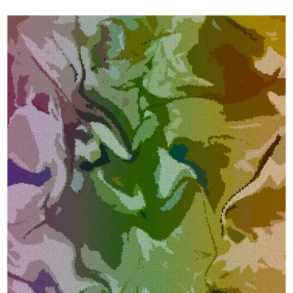 Table Runner - Honeycomb Marble Abstract 4