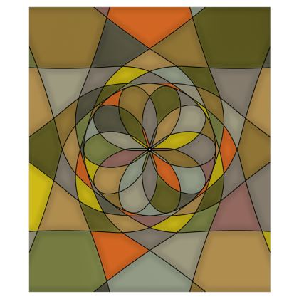 Curtains (116cmx137cm) - Yellow spiral