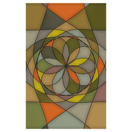 Curtains (116cmx182cm) - Yellow spiral