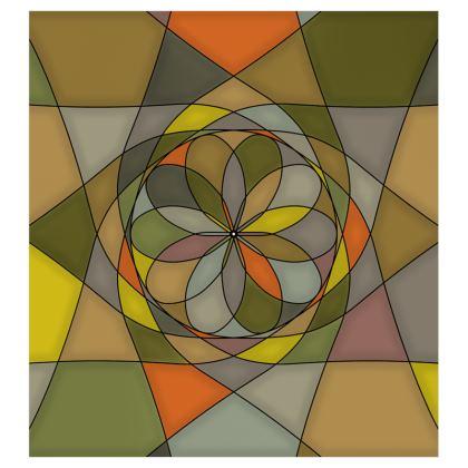 Curtains (167cmx182cm) - Yellow spiral