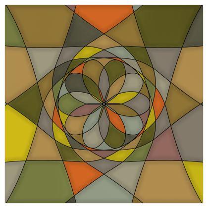 Curtains (229cmx229cm) - Yellow spiral