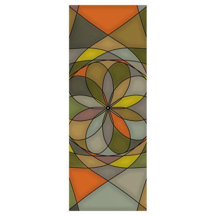Roller Blinds (61cmx162cm) - Yellow spiral